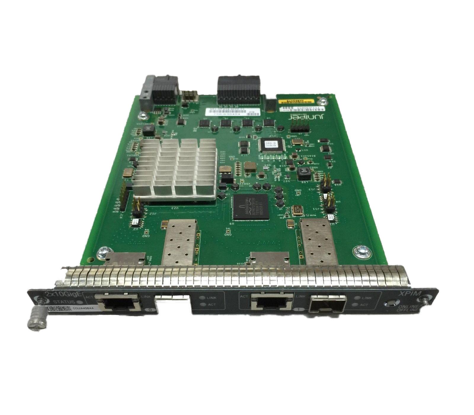 SRX-GP-2XE-SFPP-TX Juniper Networks Juniper SRX-GP-2XE-SFPP-TX Gigabit  Ethernet network switch module