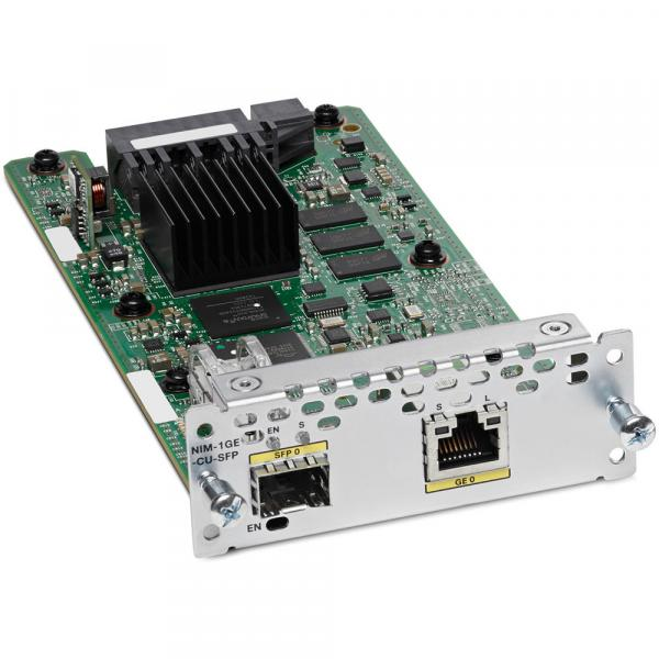 NIM-1GE-CU-SFP Cisco Systems 1-port Gigabit Ethernet, dual-mode GE/SFP,  Network Interface Module
